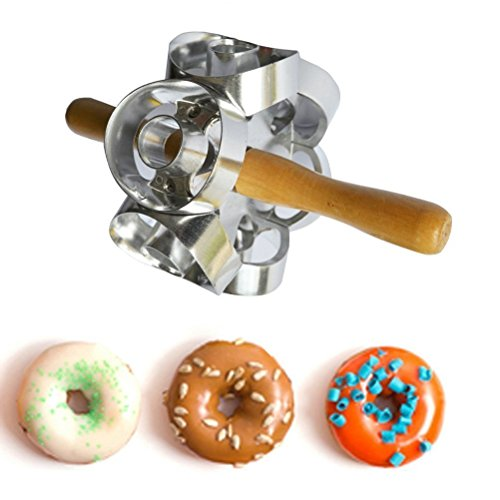 RUIMI Donut Maker Cutter 6 Sides Roller Revolving Mold Doughnut Tool Fondant Cake Bread Desserts Mould DIY Home Baking Round (Flour Dough Rolling Machine compare prices)