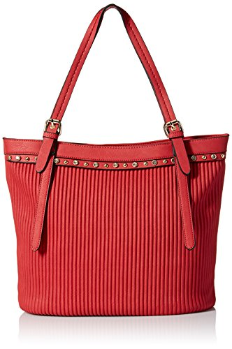 MG Collection Retro Glam Shoulder Bag, Red, One Size (Amazon Purses compare prices)
