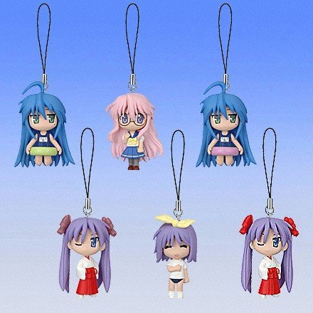 Lucky Star Figure Strap (Set of 4)