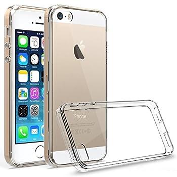 iPhone SE ケース 【KuGi】 iPhone SE / 5S / 5 背面カバー 衝撃吸収 軽量&薄タイプ 透明 アイフォンSE 保護カバー ( クリア )
