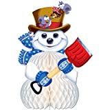 Snowman Centerpiece Party Accessory (1 count) (1/Pkg)
