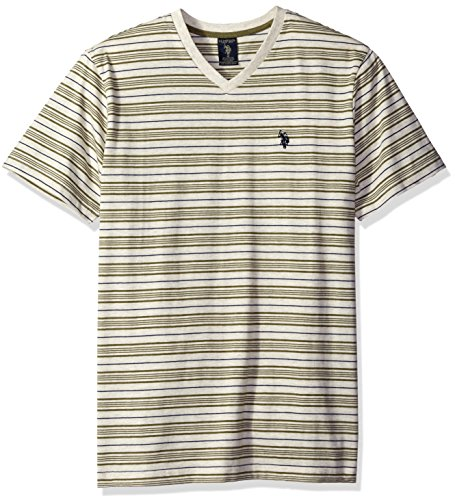 U.S. Polo Assn. Men's Multi Stripe V-Neck T-Shirt