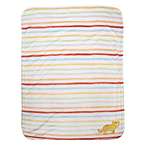 Kidsline Who's At The Zoo Velour Sherpa Blanket