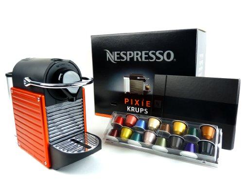 cafetiere krups xn 3006 nespresso pixie rouge electrique orang big sale. Black Bedroom Furniture Sets. Home Design Ideas