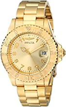 Invicta Pro Diver Women's Quartz Watch with Gold Dial  Analogue display on Gold Plated Bracelet 15249