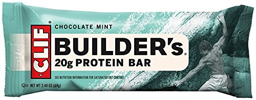 CLIF BUILDER'S - Protein Bar - Chocolate Mint - (2.4 oz, 12 Count)