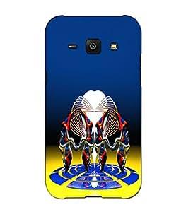Crazymonk Premium Digital Printed 3D Back Cover For Samsung Galaxy J1