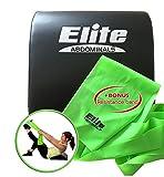 Elite Komfortabler Bauch Mat - aufzusetzen Unterlage mit Bonus Fitneßband - Fantastische Rückenstütze und für die Ewigkeit gemacht