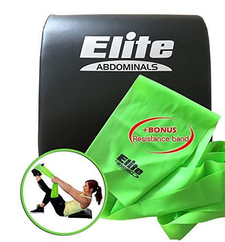 Elite Sportz Abdominal Mat Sit Up Support Pad - Bonus Resistance Band Included