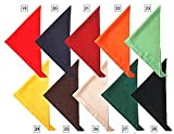 (セブンユニフォーム) SEVEN UNIFORM 三角巾 JY4672 全10色 (厨房 調理 白衣サービスユニフォーム) 2.エンジ