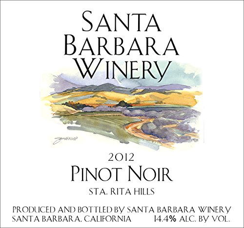 2012 Santa Barbara Winery Pinot Noir 750 Ml
