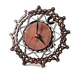 """Reloj de pared / reloj de pie """"cadena de bicicleta""""; bonito reloj de diseño extraordinario hecho a base de cadenas de bicicleta recicladas y cubiertas de cobre, de producción manual y bajo condiciones justas. Este reloj moderno puede utilizar..."""