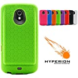 Hyperion Samsung Galaxy Nexus Extended Battery HoneyComb TPU Case Green (Hyperion Retail Packaging) **Compatible with ALL Hyperion, Qcell, and Anker Galaxy Nexus Extended Battery Models**