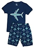 Babypajama Airplane Big Boys' Short Pajama Set 2 Piece Blue Size 8 Years Size: 8 Color: Blue/Blue, Model: , Newborn & Baby Supply