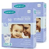 Lansinoh Breast Milk Storage Bags (50 Pieces) (Pack of 2)