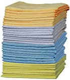 """OxGord Microfiber Cleaning Cloth """" 32pc Pack Bulk - Duster Rag Sponge for Car Wash Auto Care Thick Large for Glasses Kitchen Dish"""