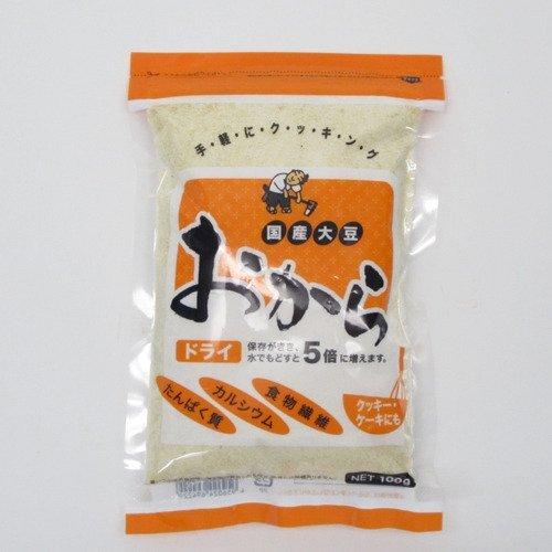 豆彦 国産大豆 おからドライ(乾燥おから) 100g