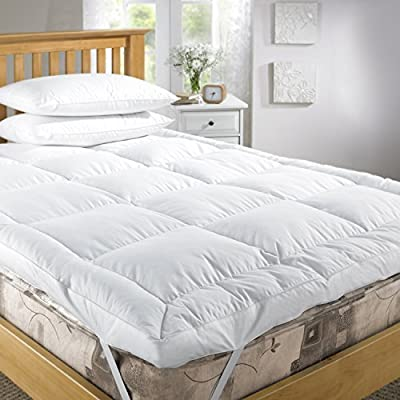 Goose Feather And Down Mattress Toppers 85% Feather & 15% Down- Double Bed Size