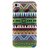 iPhone 4 Phone Case,iPhone 4S Case,Nancy's Shop **New** Fashion Pattern Design [Ultra Slim] [Perfect Fit] [Scratch Resistant] Premium TPU Gel Rubber Soft Skin Silicone Protective Cover Apple iPhone 4/4S (Tribe pattern)