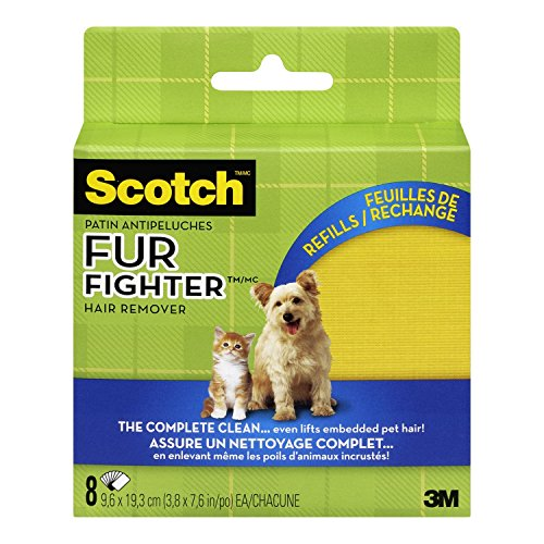 3M Upholstery Pet Hair Remover Refills, 8-sheet