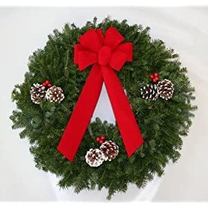 Balsam Christmas Wreath 24 Inch