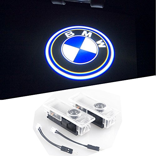 BAILONGJU BMW Easy Installation Car Door LED Logo Projector Ghost Shadow Lights 2-pc Set (Bmw Logo Door Light Car compare prices)