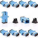 Generic Grey : Lot Of 10 SC-SC Fiber Optic Adapter Connector Coupler Single Multi Mode Simplex