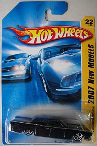 Hot Wheels 2007 New Models Blue '64 Lincoln Continental 22/36 1:64 Scale Die Cast - 1