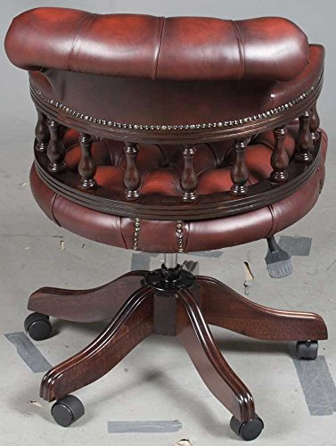 Antique Style Leather Office Chair 3