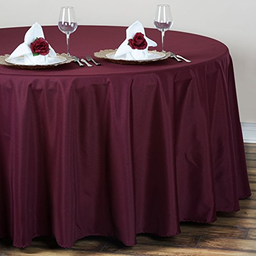Balsacircle 120 round polyester tablecloth wedding table for 120 table linen