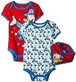 Disney Baby Boys' Donald Bodysuit and Bib (Pack of 3)