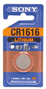 Sony CR1616 Lithium Coin Battery (Discontinued by Manufacturer)
