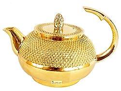 SHIV SHAKTI ARTS Handmade | Brass Tea Pot Kettle | 450 ML Capacity | 4.0inch | For Decor home use ...