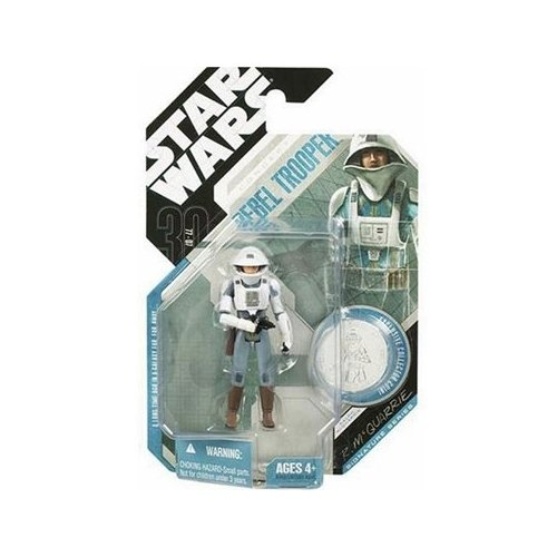 Star Wars, 30th Anniversary, McQuarrie Concept Rebel Trooper Action Figure #09 [Silver Coin], 3.75 Inches