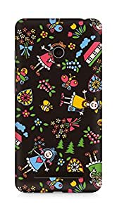 Amez designer printed 3d premium high quality back case cover for Asus Zenfone 5 (Drawing child doll bright)