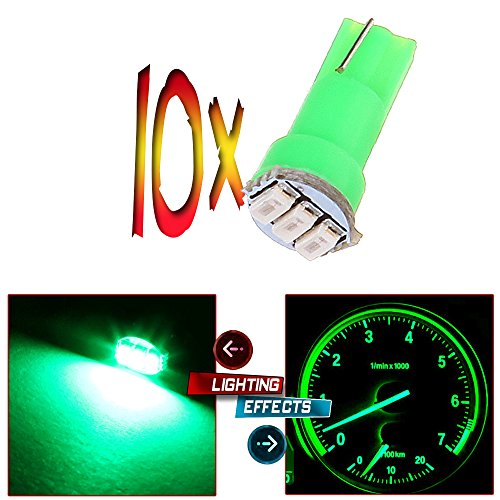 CCIYU 10x Car T5 3SMD 3014 Instrument Dashboard Green LED Bulbs light 17 37 73 2721 74 Fit 1992-2003 Subaru SVX Impreza Legacy SVX Forester 1993 1995 Plymouth Acclaim 1999 Suzuki Grand Vitara (1997 Toyota Tercel Dash Parts compare prices)