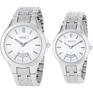 Steiner Unisex ST2251B018W/ST2151B020W Casual Jet Set Exclusive Watch Set