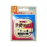 ゴーセン(GOSEN) ライン テクミーPEテーパー 力糸 13m×2本継 赤 1.0号~~6号 GT-490R~
