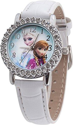 Disney Frozen FROZ5 Orologio da Polso Unisex da Bambino, Poliuretano, Bianco