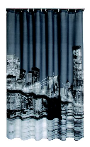 Duschvorhang Wannenvorhang Manhattan / New York incl. Ringe 180x180cm