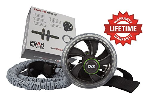 dual-ab-roller-trainer-wheel-with-resistance-bands-foot-straps-tone-your-abs-core-lose-belly-fat-abd