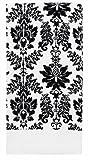 Ritz Kitchen Wears Print Velour Kitchen Towel, Vintage Damask Black