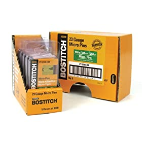 Bostitch PT-2330-3M 1-3/16-Inch 23 Gauge Pin (3000 per Box)