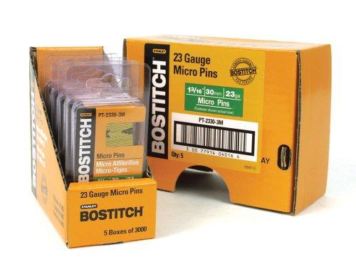 BOSTITCH PT-2330-3M 1-3/16-Inch 23 Gauge Pin (3000 per Box)