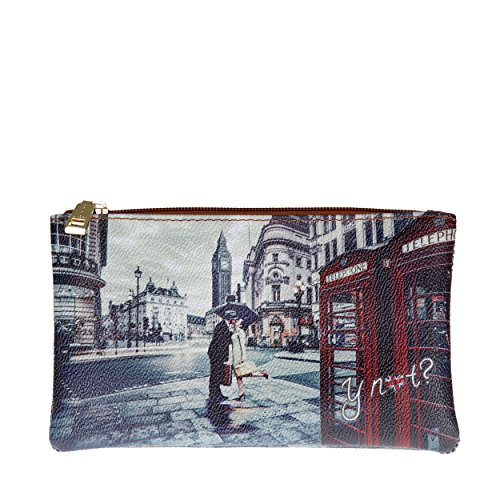 Y NOT? - Borsa donna astuccio pochette beauty flat medio londra romantic