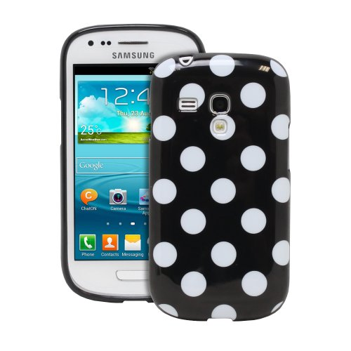 Fosmon Dura Series Polka Dot Flex Tpu Case For Samsung Galaxy S3 Iii Mini / Gt-I8190 - Black