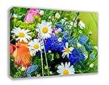 "SUMMER FLOWERS ENGLISH MEADOW CANVAS WALL ART (30"" X 18"")"