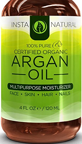 InstaNatural Organic Argan Oil - For Hair, Face, Skin & Body