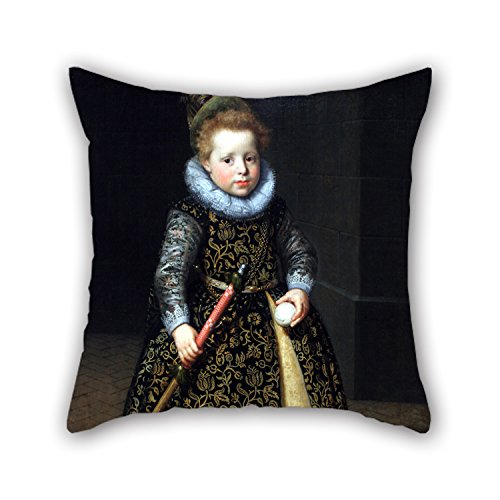 Loveloveu Oil Painting Paulus Moreelse - Portrait Of A Four-year Old Boy With A Club And Ball Cushion Covers ,best For Seat,couples,boy Friend,shop,bar Seat,bedroom 18 X 18 Inches / 45 By 45 Cm(each (4 Year Old Accesories compare prices)