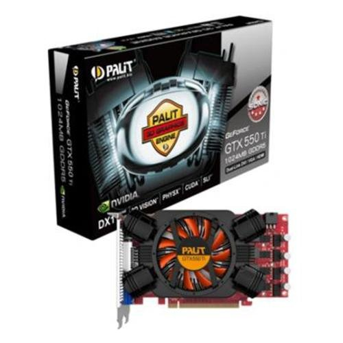 Palit GeForce GTX 550 Ti OC Sonic NVIDIA Graphics Card with 3D Surround Ready (1GB, GDDR5)